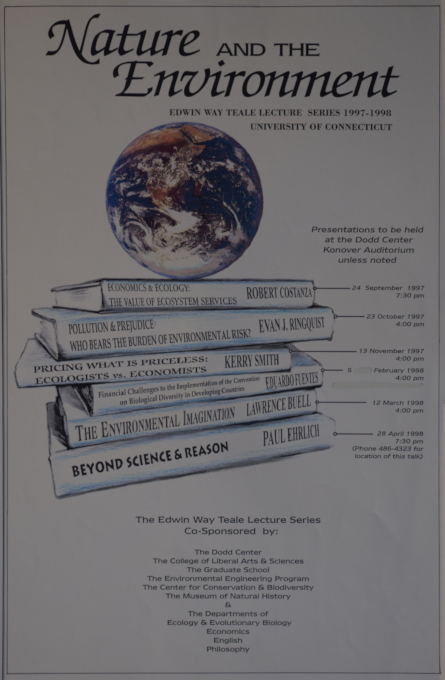 Teale Lecture Series Poster 1997-1998