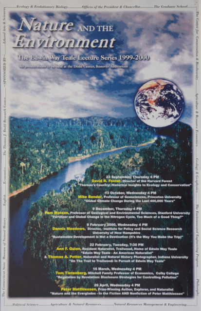 Teale Lecture Series Poster 1999-2000