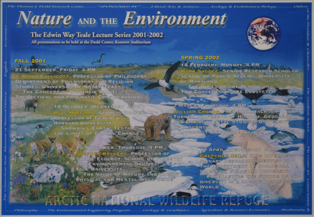Teale Lecture Series Poster 2001-2002