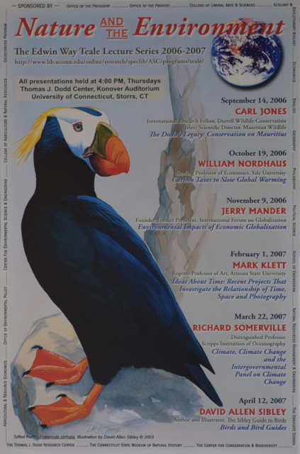 Teale Lecture Series Poster 2006-2007