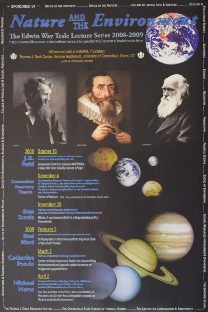Teale Lecture Series Poster 2008-2009