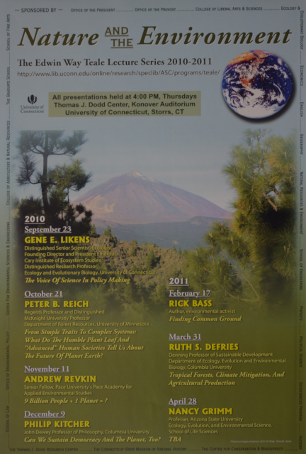 Teale Lecture Series Poster 2010-2011