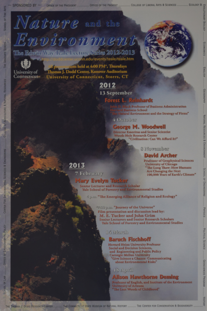 Teale Lecture Series Poster 2012-2013