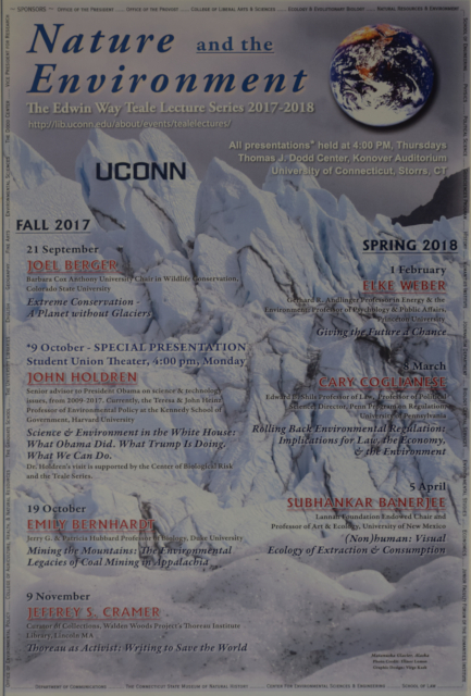 Teale Lecture Series Poster 2017-2018